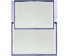 Металлический диплом-книжка 1009-180-200